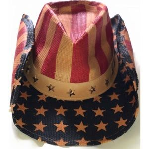 NWT Stars and Stripes cowboy hat, OS
